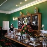 The tea table at the Grand Hotel's Parlor