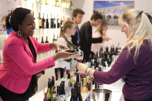 Wine pouring at the Roussillon Wine Tasting at the Maison de la Region Languedoc-Roussillon