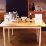 Tasting table at Corkbuzz Wine Studio
