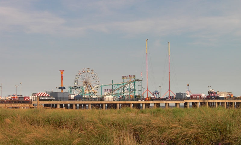 The pier at the boardwalk in Atlantic City
