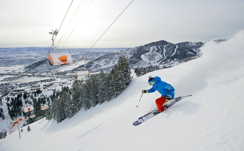 Park City, Utah ski course (Canyons Resort, by Scott Markewitz)