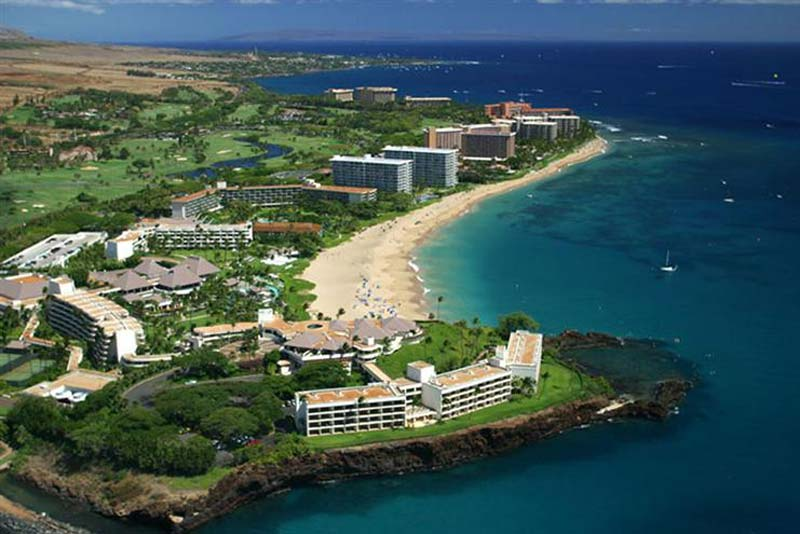 Kaanapali Beach on the island of Maui (courtesy of Kaanapali Beach Hotel)