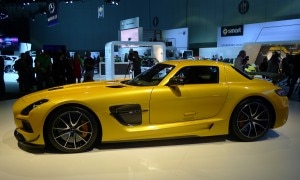 The Mercedes-Benz SLS AMG Black Series making its debut at the 2012 LA Auto Show