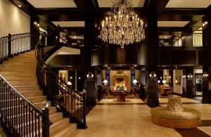 waldorf astoria park city lobby 300x194 Waldorf Astoria, Park City, Utah lobby (courtesy of Canyons Resort)