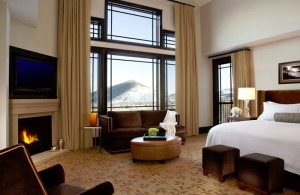 waldorf astoria park city room 300x195 Waldorf Astoria, Park City, Utah guest room (courtesy of Canyons Resort)