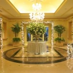 The lobby of the Four Seasons Hotel Los Angeles at Beverly Hills