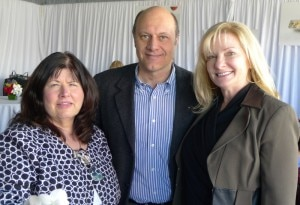 From left to right: Mary Frances Fagan, Director of Corporate Communications, Alain Gayot and Cathy Berg, Regional Vice President, Passenger Sales, Western United States
