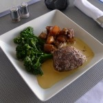Filet mignon, potatoes and broccoli