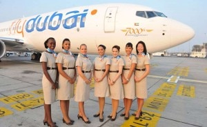 flydubai attendants 300x184 flydubai flight attendants stand near the 7000th Boeing 737 aircraft