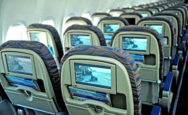 flydubai's HD screens show movies from all six Hollywood Studios