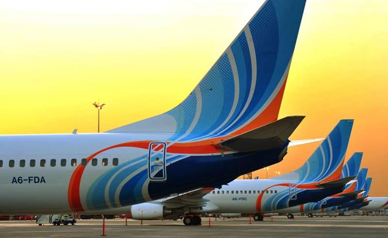 flydubai's fleet of Boeing 737s