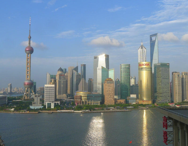 The Pudong District is only one of the many shopping meccas in Shanghai, China