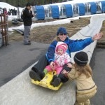 Riding the Alpine Slide