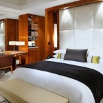 A guest room at JW Marriott Marquis Hotel Dubai