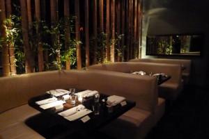 Interior of Koi restaurant