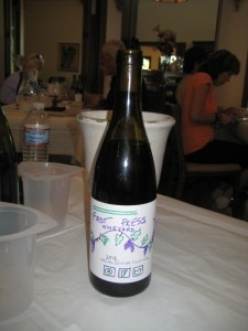 """First Press Vineyard Pinot Noir"", the winning blend"