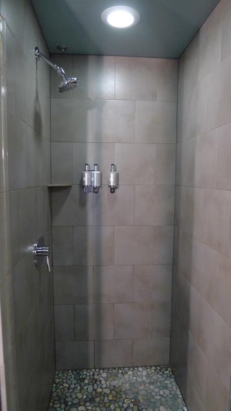 Eco-friendly modern shower at Shade Hotel in Manhattan Beach, CA