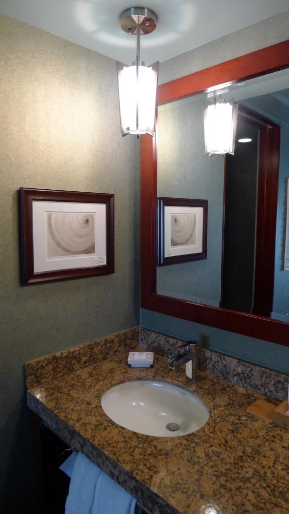 Guest bathroom sink at Shade Hotel in Manhattan Beach, CA