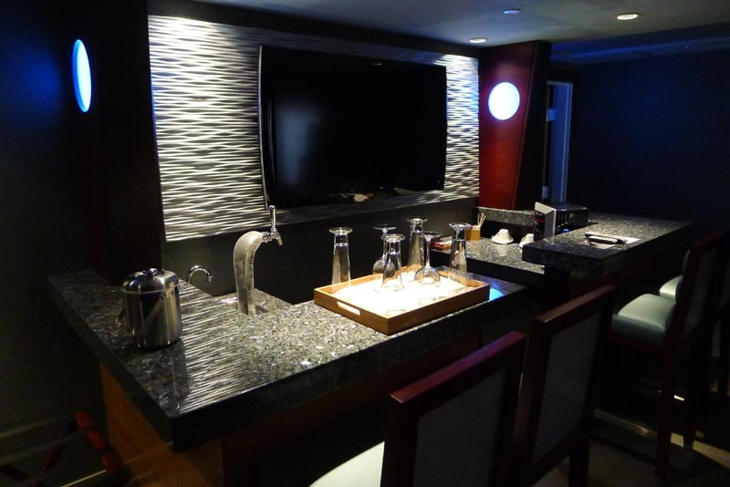 Expanded wet bar in Executive Studio Suite at Shade Hotel in Manhattan Beach, CA