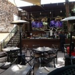 Wilshire Restaurant's patio and outdoor bar