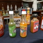 Hot sauces at Wilshire Restaurant's Bloody Mary bar