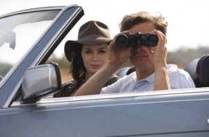 arthur newman emily blunt colin firth car 300x198 Emily Blunt and Colin Firth in Arthur Newman