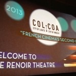 The introduction screen for COLCOA 2013 French Film Festival in Los Angeles