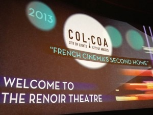 colcoa2013intro screen 300x225 The introduction screen for COLCOA 2013 French Film Festival in Los Angeles