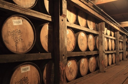 Bourbon aging in the barrel at Buffalo Trace Distillery