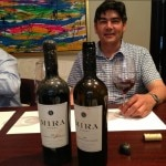 Mira winemaker Gustavo Gonzalez tasting the recovered wine
