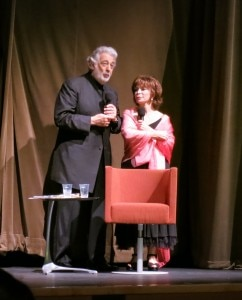 Author Isabel Allende with Placido Domingo