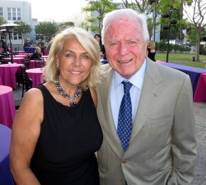 Los Angeles former Mayor Richard Riordan with Michèle La Porta