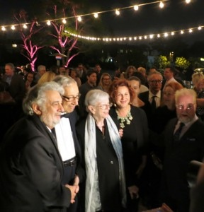 Long-time supporters of LA Opera Milton & Rosemary Okun who made possible the world premiere of Dulce Rosa with  Placido Domingo