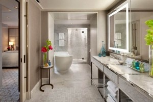 The Oriental Suite bathroom at the Mandarin Oriental, San Francisco