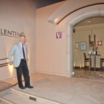 Piero Selvaggio at the entrance to Valentino