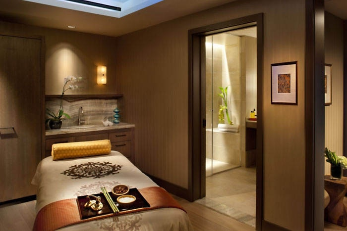 A spa treatment room at the Mandarin Oriental, San Francisco