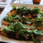 Flatbread from Stefan's at L.A. Farm in Santa Monica