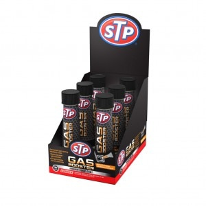STP Gas Booster display case