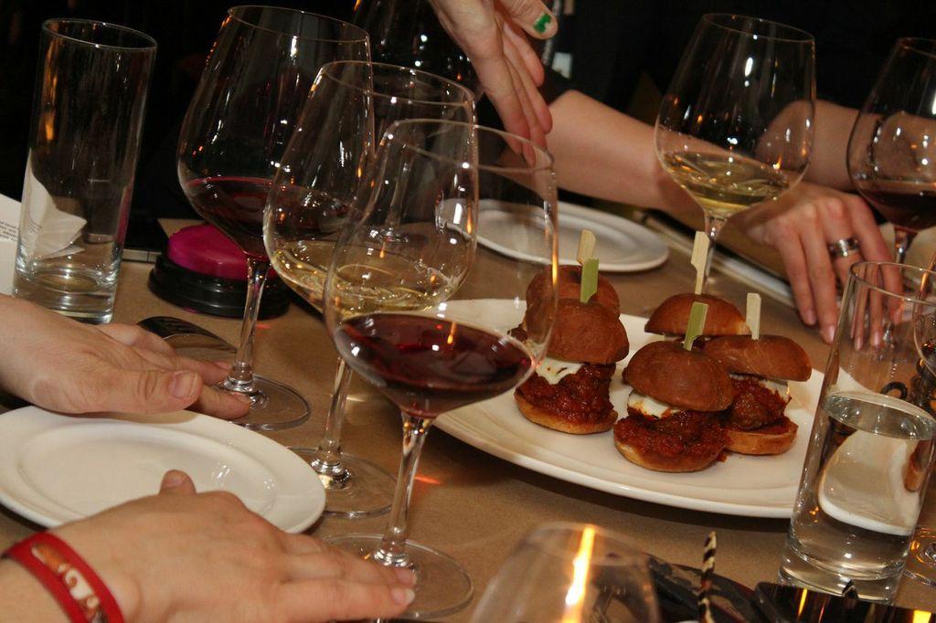 Wine pairing at The Breslin Bar & Dining Room