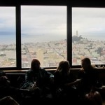 Guests enjoying food and the vista from the Grand Hyatt San Francisco