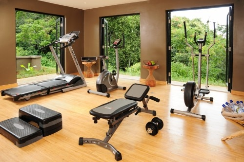 Fitness center at the Nyungwe Forest Lodge