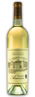 PinotGrigio MendoCty Web Castello di Amorosa 2012 Mendocino County Pinot Grigio   Wine of the Week Review