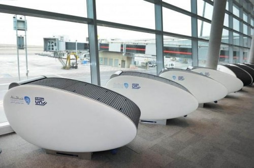 abu dhabi airport sleeping pods 500x331 Abu Dhabi International Airport Debuts Sleeping Pods in Terminals   Travel News