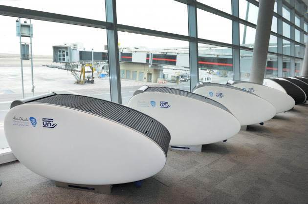 Get comfy at Abu Dhabi International Airport in a GoSleep pod