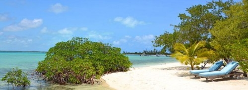 A beach on Andros Island in The Bahamas