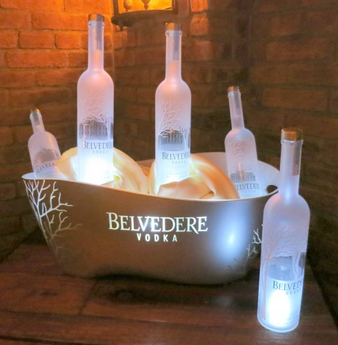 Ice bucket of Belvedere Vodka