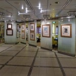 The art gallery on the Celebrity Solstice