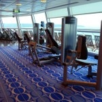 Fitness room with a view on the Celebrity Solstice