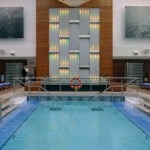 The indoor pool on the Celebrity Solstice