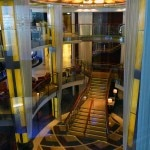 The main lobby of the Celebrity Solstice